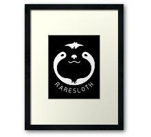 RareSloth Games - White Framed Print