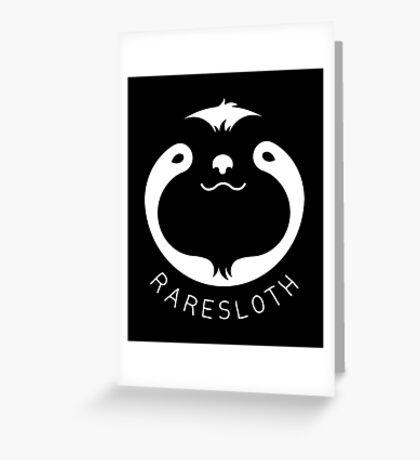 RareSloth Games - White Greeting Card