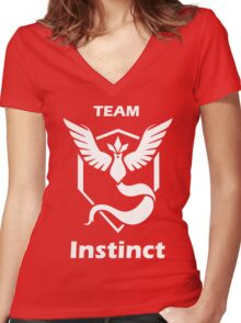 PokeTroll Shirt Instinct Women's Fitted V-Neck T-Shirt