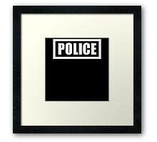 Police Costume Framed Print