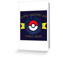 WORLD GAME Greeting Card