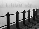 Pedestrians in the fog by awefaul