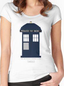 TARDIS Fan items Women's Fitted Scoop T-Shirt