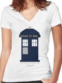 TARDIS Fan items Women's Fitted V-Neck T-Shirt