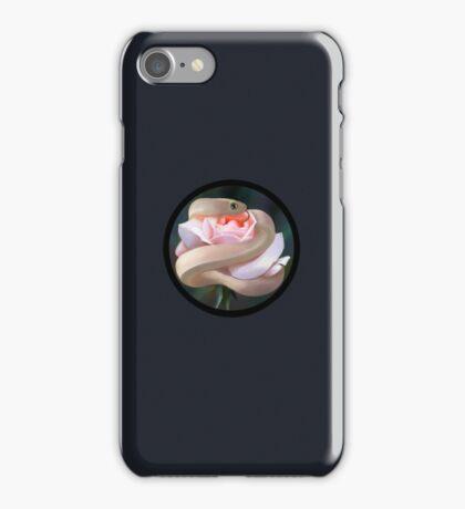 Snake on flower iPhone Case/Skin