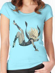 Gravity Rush - Falling Kat Women's Fitted Scoop T-Shirt