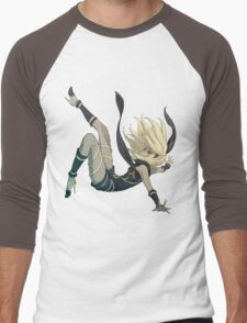 Gravity Rush - Falling Kat Men's Baseball ¾ T-Shirt