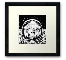 astronaut world map 4 Framed Print