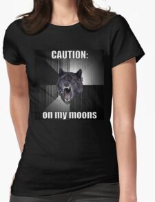 Period Warning Womens Fitted T-Shirt