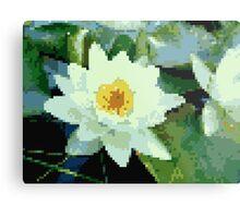 8bit lotus Metal Print