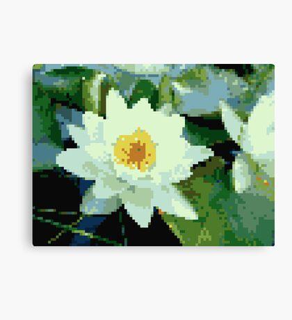 8bit lotus Canvas Print