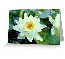 8bit lotus Greeting Card