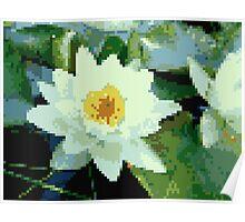 8bit lotus Poster