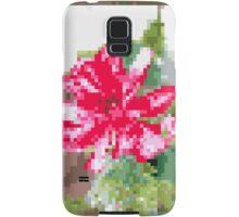8 bit tongue flower Samsung Galaxy Case/Skin