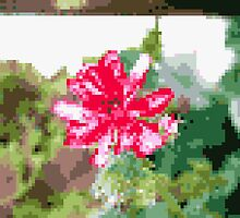 8 bit tongue flower by Finnian Wilder