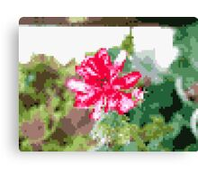 8 bit tongue flower Canvas Print