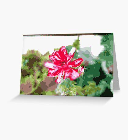 8 bit tongue flower Greeting Card