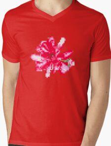 8 bit tongue flower Mens V-Neck T-Shirt