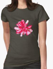 8 bit tongue flower Womens Fitted T-Shirt