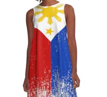 Philippines Flag Pride A-Line Dress