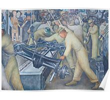 Diego Rivera Auto Plant Poster