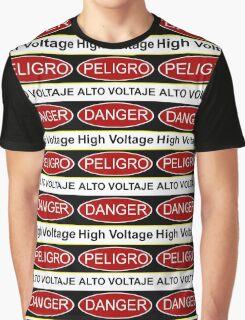 Danger high voltage & in spanish peligro alto voltaje Graphic T-Shirt
