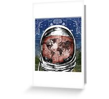 astronaut world map 6 Greeting Card