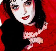 Lydia Deetz - black Sticker