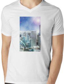 Galaxy Utopia Mens V-Neck T-Shirt