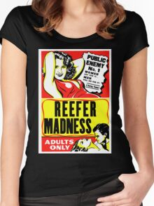 Reefer Madness Poster T-shirt Women's Fitted Scoop T-Shirt