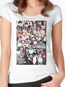 Supernatural Collage Women's Fitted Scoop T-Shirt