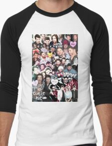 Supernatural Collage Men's Baseball ¾ T-Shirt