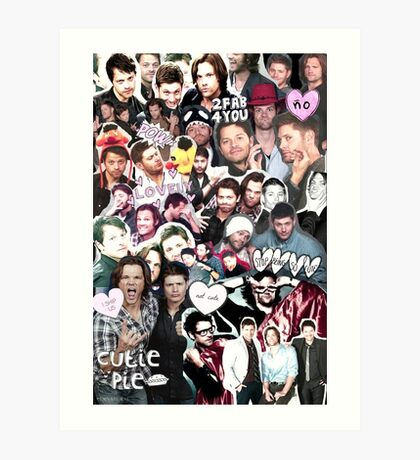 Supernatural Collage Art Print