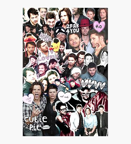 Supernatural Collage Photographic Print