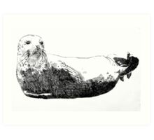 Happy seal Art Print