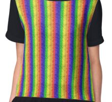 Rippled Rainbow Horizontal Chiffon Top