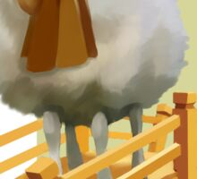 Sheep on a bridge  Sticker