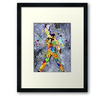 Freddie Grunge Framed Print