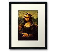 Pixelated Mona Lisa Framed Print