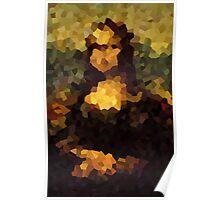 Pixelated Mona Lisa Poster