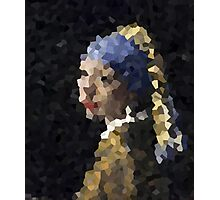 Pixelated Girl with a Pearl Earring Photographic Print