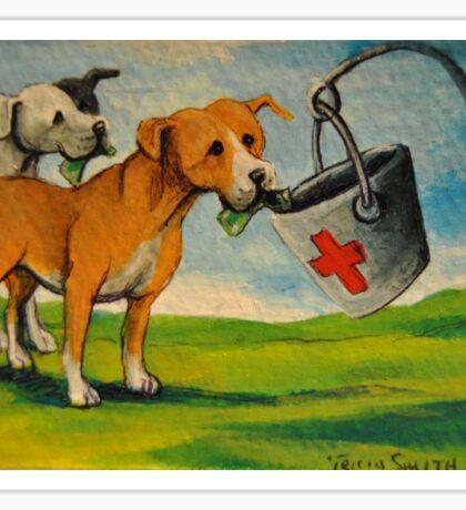Selfish Pit Bull Dogs!~Whimsical~Sarcasm~Love~Dog Sticker