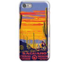 Saguaro National Park Vintage Travel Poster iPhone Case/Skin