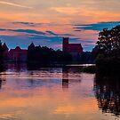 Trakai - Fairytale Castle at sunset by Paul Davis