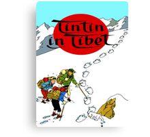 Tintin in Tibet Cover Print Canvas Print