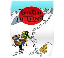 Tintin in Tibet Cover Print Poster