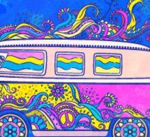 Print with hippie car Sticker