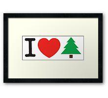 I Love Tree Framed Print