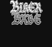 Biker Babe, Gothic, Motor Cycle, Ride, Biker Chic, Motorbike, BLACK Womens Fitted T-Shirt