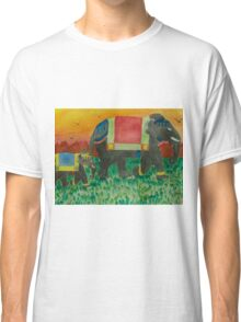 Elephants after the parade Classic T-Shirt
